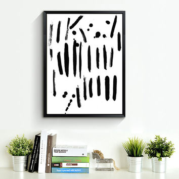 Contemporary Wall Art, Top Sellers, Printable Painting, Painting Print, Minimal Poster, Abstract Printable, Brush Stroke Art Abstract *164*