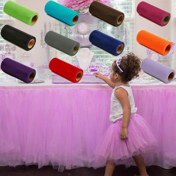 Pick Color Matt TULLE Roll Spool 6inch x 25yard (6inch x 75ft) Tutu Wedding Decorations Gift Party Bow 20 Colors