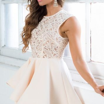 Laced With Dreams Dress in Blush
