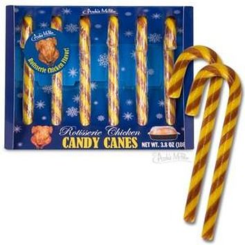 Rotisserie Chicken Candy Canes
