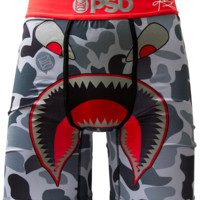 PSD Kyrie Irving Signature War Face 2 Boxer Briefs In Grey Camo