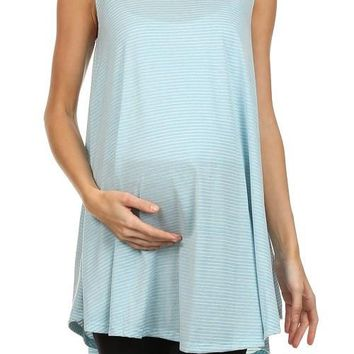 Pin Striped Sweep Maternity Tank