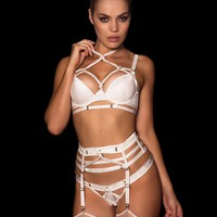 Shibari Ivory Push Up Bra