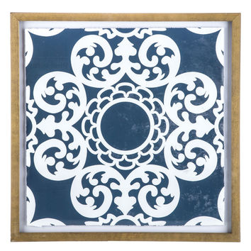 Indigo Medallion Framed Wall Decor | Hobby Lobby | 1470541