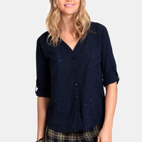 Moving On Embroidered Blouse