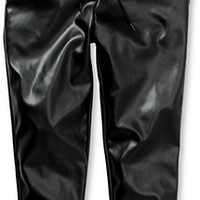 Elwood Faux Leather Jogger Pants