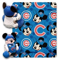 Chicago Cubs MLB Mickey Mouse with Throw Combo