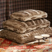 FAUX FUR DOG BED COVER