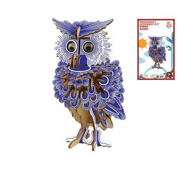 Owl 3D Wooden Puzzle Kids Educational Toys DIY Paper Puzzles Jigsaw Model Toys For Children