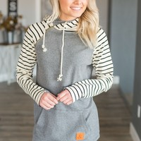 Double Hooded Sweatshirt - Harbor Stripe