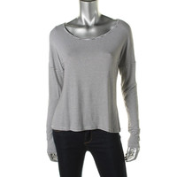Maison Jules Womens Knit Striped Pullover Top