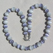 """Lavender & Dove Gray Cat's Eye Gemstone Necklace  """"Cat's Whiskers"""""""