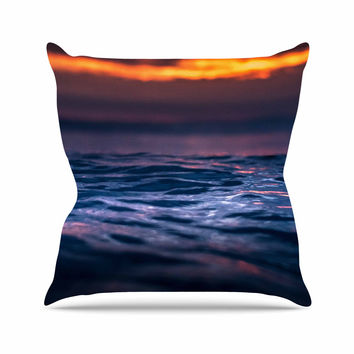 "Colin Pierce ""Night Fire"" Blue Orange Photography Throw Pillow"