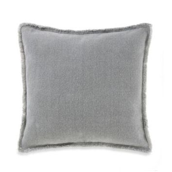 Kenneth Cole Reaction Home Frayed Edge Square Throw Pillow in Grey