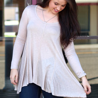 Natural Beauty Tunic Top {Stone}