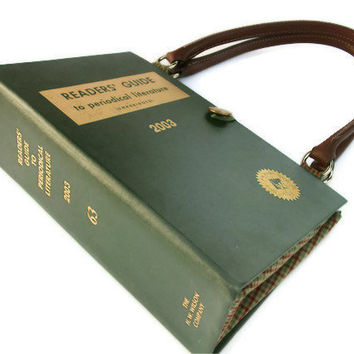 Readers Guide to Periodical Literature Book Purse by retrograndma