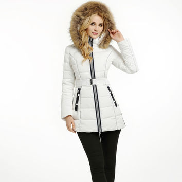 Fashion winter thickening women's medium-long down coat fur collar  SID-B305