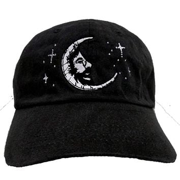 Jerry Garcia Moon Premium Baseball Hat in Jet Back