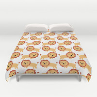 Lion Bed Cover - Duvet Cover Only - Bed Spread - Bedroom Decor - Lion Art - Child Bedroom Decor - Made to Order