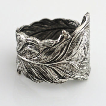 Vintage Ring - Silver Ring - Art Nouveau Jewelry - Adjustable Ring - Peacock Ring - Band Ring - Statement Ring - handmade jewelry