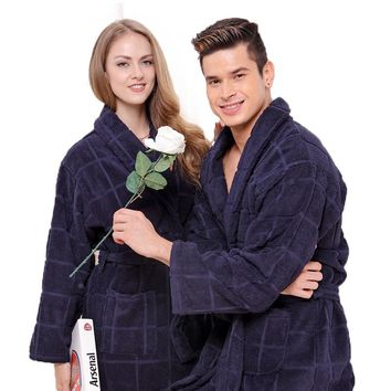 Cotton bathrobe men XL pajamas blanket towel fleece thick loves home hotel long soft winter night robe men summer