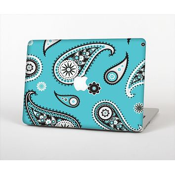 "The Vivid Blue & Black Paisley Design Skin Set for the Apple MacBook Pro 13"" with Retina Display"