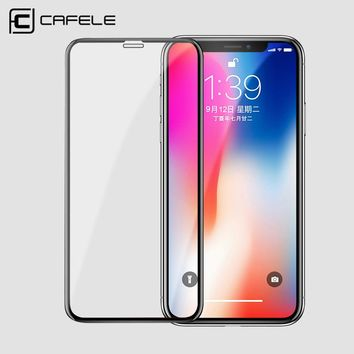 CAFELE 3D 0.2mm Screen Protector For iPhone X Soft Edge Full Cover Tempered Glass For iPhone 10 Toughened Protective Glass Film