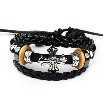 Stylish Gift New Arrival Great Deal Awesome Hot Sale Shiny Black Ring Handcrafts Men Accessory Bracelet [6526725251]