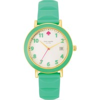 kate spade new york Enamel Bezel Silicone Strap Metro Watch, 36mm