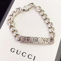 GUCCI New fashion letter women chain bracelet Silver