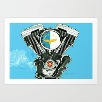 Azores Islands Motorcycle Culture. Art Print by Tony Silveira