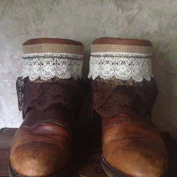 DOUBLE H upcycled western cowboy boots somens size 9 1/2 wide