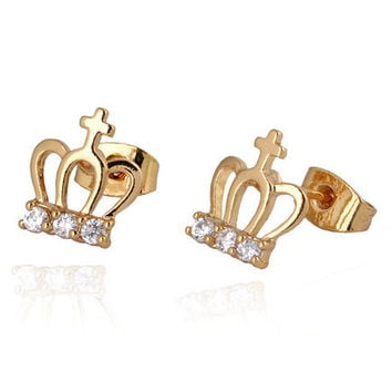 Crown Rhinestone Earrings