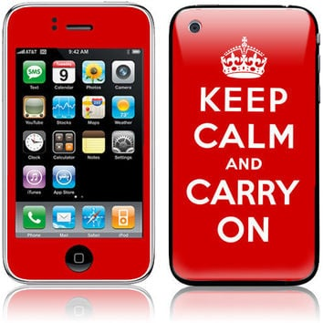 Apple iPhone 3G / 3GS Skin Cover Keep Calm and by stickitskins