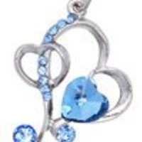 Cross Hearts (Blue) Cellphone Charm CH290BL for Siemens cell