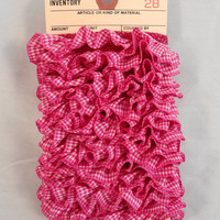 Ruffled Ribbon Gingham Bright Pink / Purple and by ScrappyDoodads