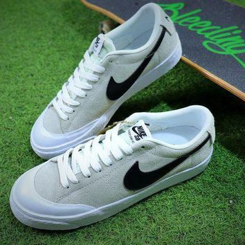 CREYNW6 New Nike Blazer Sb Grey Black White Plate Shoes