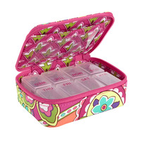 Travel Pill Case in Pink Swirls