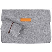 Inateck 15.4 Inch MacBook Pro Retina Ultrabook Netbook Bag Envelope Case Cover Sleeve Carrying Protector Case Bag with Card Slot [Size: 15.4-Inch, Color: Grey]
