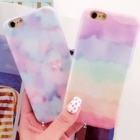 Tie Dye Gradient Cover Case for iPhone 5s 5se 6 6s Plus Gift + Gift Box 341-170928