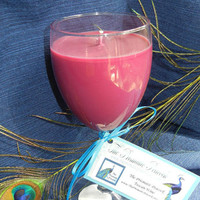 Natural Soy Candle in Wine Glass, Tuscan Wine Scented