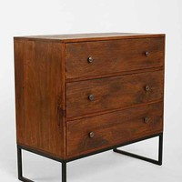 4040 Locust Canyon Triple-Drawer Dresser- Brown One