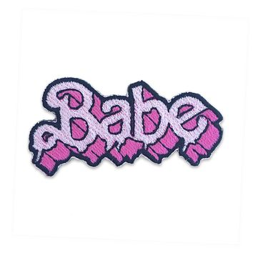 Babe Drippy Letters Patch