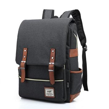 2016 Canvas Casual Vintage Large Capacity Travel Bag Hipster Laptop Computer Rucksack Package Men Daily Backpacks Daypacks W647