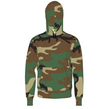 Bart Simpson and Camo - Men's Hoodie