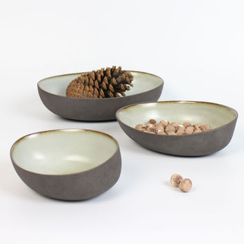 New a plate set Warm - stone fruit plate special ceramic dish tableware three-piece a set purple pottery from Jingde Town