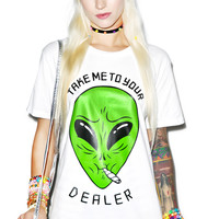 Bang-On Take Me To Your Dealer Tee White