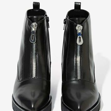 Sixty Seven Tabitha Box Leather Zip Boot