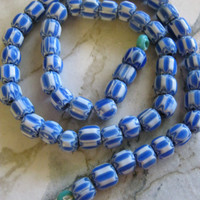 Blue and White Murano Trade Beads