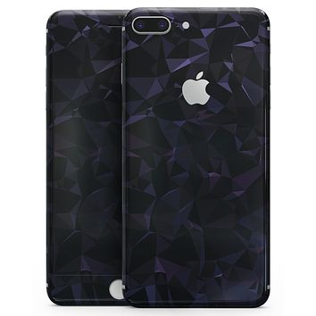 Dark Blue Geometric V21 - Skin-kit for the iPhone 8 or 8 Plus